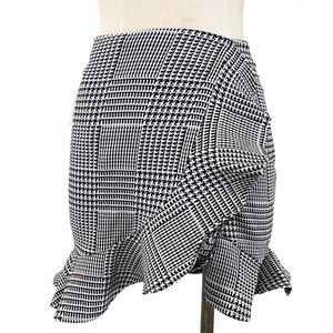 Lovers + Friends- Affection Houndstooth Mini Skirt
